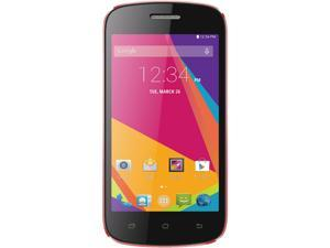POSH Kick Lite S410A Pink Unlocked GSM Dual-SIM Android Cell Phone