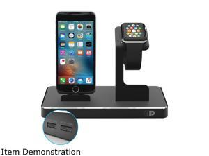 Press Play PPODMFI/BLK Black Apple Watch/iPad/iPhone/iPod OneDock Powerstation with Lightning Dock