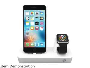 Press Play PPODMFID/SLV One Dock Duo With Lightning Dock & Built-in Apple Watch Charger
