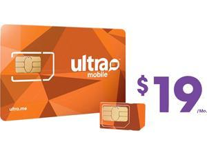 Ultra Mobile Triple Punch Orange Mini/Micro/Nano SIM Card - $19 (1 month of service included)