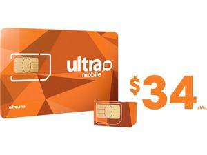 Ultra Mobile Triple Punch Orange Mini/Micro/Nano SIM Card - $34 (1 month of service included)
