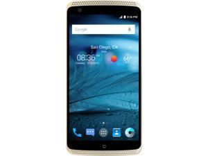 "ZTE AXON Unlocked Smartphone, 32GB Storage 2GB RAM, 5.5"" Gold Color (North America Warranty)"