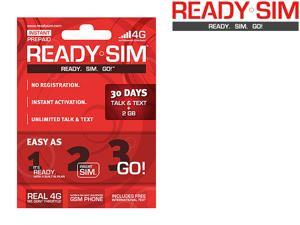 Ready SIM ARS-30TTD 30 Day Talk, Text & Data Plan