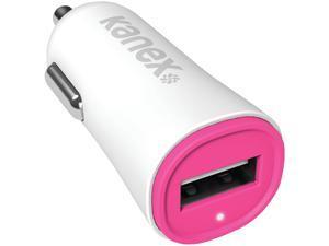 Kanex KCLA1PT24V2PK Pink 2.4-Amp USB Car Charger V2