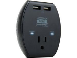 2-Units ReVIVE Overload Surge Protector and 2-Port USB Adapters