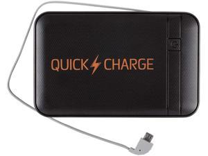 EnerPlex QuickCharge Black 8000 mAh Portable Power Bank QC8000BK