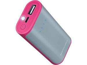 Merkury Gray/Pink 4000 mAh Rubberized 2-Tone Power Bank MI-PB420-652