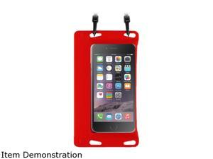 "BasAcc Red Universal Double Sealing Waterproof Bag Case with Strap for Smartphones up to 5.5"" 2211501"