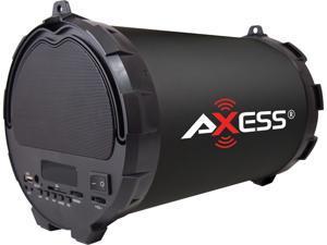 "AXESS SPBT1032-BK Black Portable Bluetooth Hi-Fi Speaker with Digital Screen, SD Card, USB, AUX And FM Inputs, 5.25"" Sub"