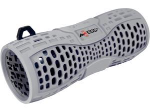 AXESS SPBW1035-GY-BK Grey/Black Portable Water-Resistant (IPX6) Bluetooth Speaker with Speakerphone