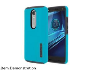 Incipio DualPro Cyan/Gray Hard-Shell Case with Impact-Absorbing Core for Motorola Droid Turbo 2 MT-367-CNGY