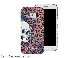 Choicee Pink Skull Ed Hardy S6 Edge Skull Color Leopard Pink EHSS61611