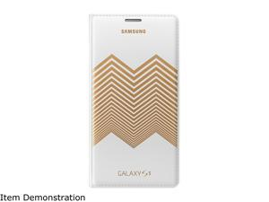 SAMSUNG White with Gold Pattern Solid Galaxy S5 Nicholas Kirkwood Wallet Cover EF-WG900RLESTA