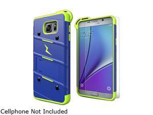 Zizo Blue/Neon Green Bolt Hybrid Case for Samsung Galaxy Note 5 1BOLT-SAMGN5-BLNGR