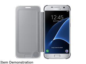 Samsung Galaxy S7 S-View Clear Cover Silver - EF-ZG930CSEGUS
