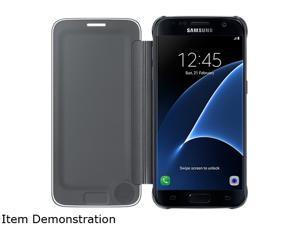 Samsung Galaxy S7 Edge S-View Cover Clear Black - EF-ZG935CBEGUS