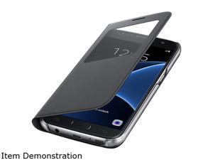 Samsung Galaxy S7 S-View Cover Black - EF-CG930PBEGUS