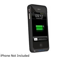 Upwardly Mobile Accessories Black 1450 mAh MFi Li-Ion Battery Pack Case Compatible with Apple iPhone 4/ 4s UMA4SPWRPACKBK