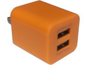 Xfactor TWALLXF2ADUALOR Orange Power Cube - 2.1 Amp & 1 Amp Dual USB Ports
