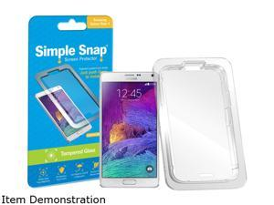 Simple Snap Samsung Galaxy Note 4 Tempered Glass Screen Protector SS0021