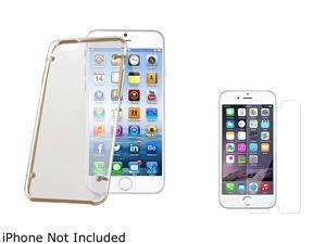 1X Snap-in Case compatible with Apple iPhone 6 4.7, Clear Hard/Gold TPU Bumper Note: NOT compatible with Apple iPhone 6 Plus This snap-in case keeps your Apple iPhone safe and protected in style