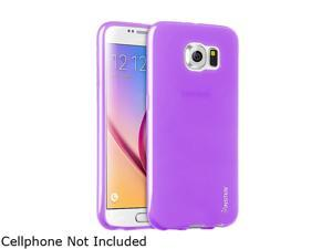 Insten Purple Frosted TPU Rubber Candy Skin Case for Samsung Galaxy S6 2076385