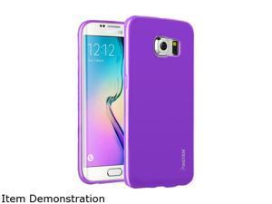 Insten Purple Jelly TPU Rubber Skin Gel Back Shell Case For Samsung Galaxy S6 Edge 2105851