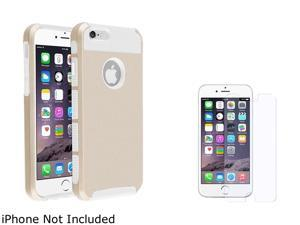 1X Hybrid Case compatible with Apple iPhone 6 4.7, White TPU/Gold
