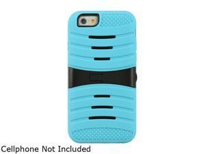 "Luxmo Apple iPhone 6 (4.7"") Anti-shock Hybrid Case Light Blue Skin + Black PC W/ Stand SCAIP6STDASLBBK"