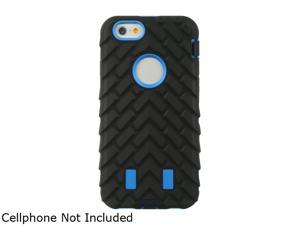 "Luxmo Apple iPhone 6 (4.7"") Anti-shock Hybrid Case Balck Tire Trace Skin + Blue PC SCAIP6STDASTTBKBL"