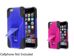 """Insten Black Silicone / Blue Hard Plastic , Black Silicone / Hot Pink Hard Plastic 2 packs of With Stand Hybrid Case Covers for Apple iPhone 6 Plus 5.5"""" 1985315"""
