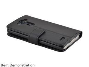 Insten Black Stand Leather Case with Card Slots / Magnetic Flap For LG G3 D855 1904027