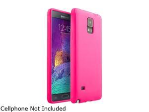 Insten Hot Pink Jelly Glossy TPU Rubber Gel Case Cover for Samsung Galaxy Note 4 1957519