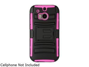 GearIT Magenta [Hybrid Armor] Dual Layer Cover Stand with Holster for HTC One M8 GI-HTC-M8-HYB-DL-MA