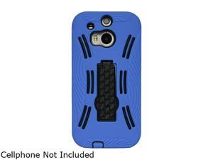 GearIT Blue Rugged High Impact Hybrid Armor Case Cover Stand for HTC One M8 GI-HTC-M8-HYB-IP-BL