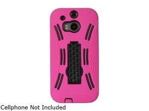GearIT Magenta Rugged High Impact Hybrid Armor Case Cover Stand for HTC One M8 GI-HTC-M8-HYB-IP-MA