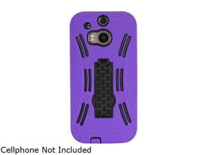 GearIT Purple Rugged High Impact Hybrid Armor Case Cover Stand for HTC One M8 GI-HTC-M8-HYB-IP-PR