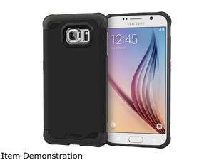 rooCASE Granite Black Exec Tough Hybrid Co-mold Case for Samsung Galaxy S6 RC-SAM-S6-ET-BK