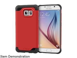 rooCASE Carmine Red Exec Tough Hybrid Co-mold Case for Samsung Galaxy S6 RC-SAM-S6-ET-RD