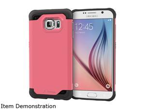rooCASE Coral Pink Exec Tough Hybrid Co-mold Case for Samsung Galaxy S6 RC-SAM-S6-ET-PI
