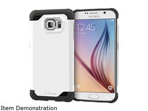 rooCASE Arctic White Exec Tough Hybrid Co-mold Case for Samsung Galaxy S6 RC-SAM-S6-ET-WH