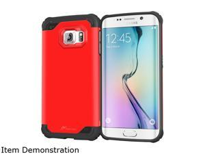 rooCASE Carmine Red Exec Tough Hybrid Co-mold Case for Samsung Galaxy S6 Edge RC-SAM-S6E-ET-RD