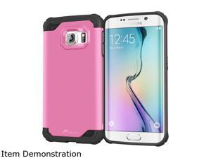 rooCASE Coral Pink Exec Tough Hybrid Co-mold Case for Samsung Galaxy S6 Edge RC-SAM-S6E-ET-PI