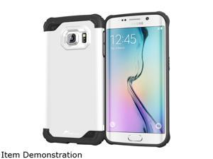 rooCASE Arctic White Exec Tough Hybrid Co-mold Case for Samsung Galaxy S6 Edge RC-SAM-S6E-ET-WH
