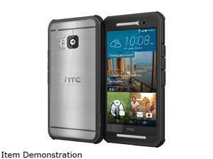 rooCASE Granite Black Glacier Tough Hybrid PC TPU Rugged Case for HTC One M9 (2015) RC-HTC-M9-GT-BK