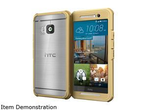 rooCASE Fossil Gold Glacier Tough Hybrid PC TPU Rugged Case for HTC One M9 (2015) RC-HTC-M9-GT-CG