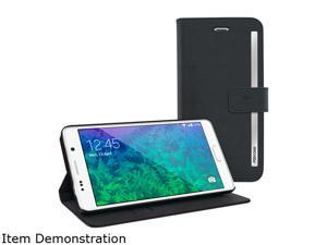 rooCASE Black Prestige Wallet Case - Folio Flip Cover with Stand for Galaxy Note 4 RC-NOTE4-FOL-PR-BK