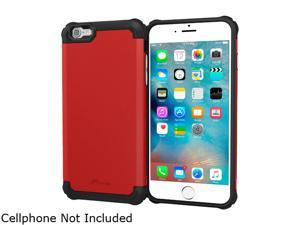 roocase Slim Fit EXEC Tough Pro Armor Hybrid PC TPU Case for Apple iPhone 6 / 6S 4.7-inch, Red
