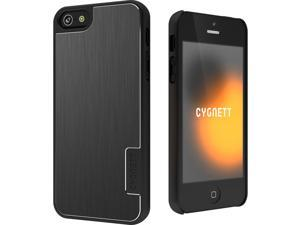 Cygnett Black Urbanshield Hard Case with Metal Cover for iPhone 5 CY0858CPURB