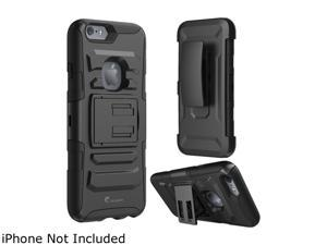 i-Blason Prime Black Dual Layer Holster Case with Kick Stand for Apple iPhone 6 / 6s iPhone6-4.7-prime-Black